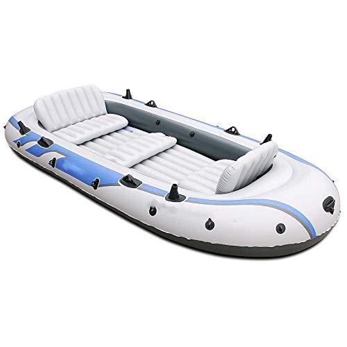 YYhkeby Aufblasbare Boot Kayak Rückenlehne Schlauchboot für 4 Personen / 5 Personen...