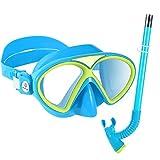 Premium Kinder Schnorchelset Taucherbrille mit Schnorchel Tauchset Anti-Beschlag Gläser...
