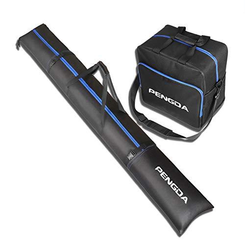 PENGDA Skitasche und Skischuhtasche für 1 Paar Ski bis 200cm und Schuhgröße 47 +...