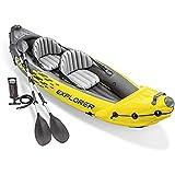 YKHOME K2 Schlauchboot - Aufblasbares Kajak -Schlauchboot mit Pumpe & Paddeln, für 2...