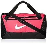 Nike NK BRSLA S DUFF - 9.0 Gym Bag, Rush Pink/Black/White, 51 cm