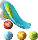 HABA 304870 - Badespaß Wasserrutsche, Kugelbahn-Badespielzeug mit kleiner Wasserrutsche...