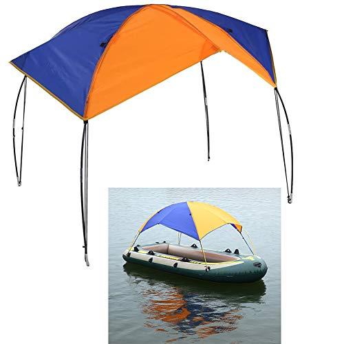 Floving 4-5 Personen Schlauchboot Sonnenschirm Inflatable Boat Segeln Markisendach Markise...