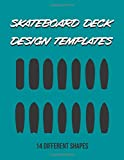 Skateboard Deck Design Templates: 14 different board shapes, especially for surfskate...