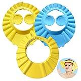 Baby Shampoo Cap, ZoneYan 3Pcs Einstellbare Baby Duschhaube, Shampoo Schutz für Kinder...