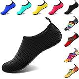 VIFUUR Wassersport Schuhe Barfuß Quick-Dry Aqua Yoga Slip-on für Männer Frauen Kinder Schwarz EU40/41