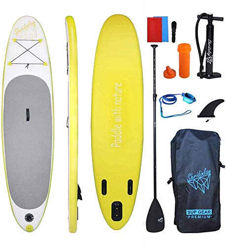 Shridinlay Aufblasbares SUP Board Set - Stand Up Paddle Board 305x76x15cm 10.0' Komplettes...