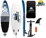 AQUALUST 10'6' SUP Board Stand Up Paddle Surf-Board aufblasbar ISUP 320x81x15cm Blue