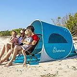 WolfWise UPF 50+ UV Schutz 3-4 Personen Strandmuschel, Pop Up Familien/Baby Sonnenschutz Strandzelt,...