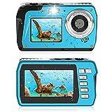 Unterwasserkamera 2.7K Unterwasser Kamera 48 MP Kamera Wasserdicht HD Dual Screen TFT...