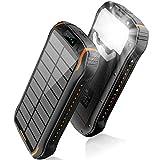 Powerbank solar 26800mAh, Solar Ladegerät schnelles Aufladen mit 2 Eingangsports/ 3 Ausgängen Tragbarer...