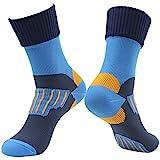 RANDY SUN [SGS-zertifiziert Unisex-Socken, wasserdicht, atmungsaktiv, 1 Paar Gr. M, 01 Paarblau