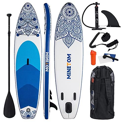 Minetom Aufblasbares Stand Up Paddle Board SUP Board Paddling Board Paddelboard Inkl....