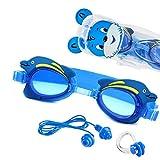 Sportastisch Kinder Schwimmbrille Topdesign¹ Swim Buddy Dolphin mit Verstellbarer Nase Zubehör & E-Book,...
