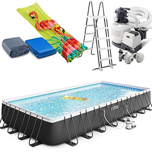 Intex Ultra XTR Frame Swimming Pool rechteckig 975 x 488 x 132 cm Schwimmbecken 26374...