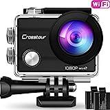 Crosstour Action Sport Cam WiFi 14MP Full HD Unterwasserkamera 2' LCD 170°...