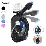 Tauchmaske, Faltbare Schnorchelmaske Tauchermaske Vollgesichtsmaske, mit 180 Grad Blickfeld und Kamerahaltung,...