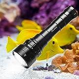 Volador Tauchlampe, 6000 Lumen Tauchen Taschenlampe, 6*CREE XP-L2 LED 4 Modi Unterwasser...
