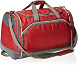 AmazonBasics - Sporttasche, Größe S, Rot