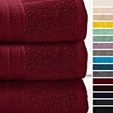 Lumaland Premium 3er Set Badetücher Handtücher Frottee 70 x 140 c aus 100% Baumwolle 500 g/m² mit...
