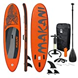 ECD Germany Aufblasbares Stand Up Paddle Board Makani | 320 x 82 x 15 cm | Orange | PVC |...