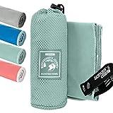 Backpacker's Journey Mikrofaser Handtücher in S M L XL. Reisehandtuch Sets leicht,...