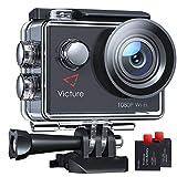 Victure AC420 Action Cam 14MP WI-Fi Full HD 1080P wasserdichte Sport Action Kamera 30M...