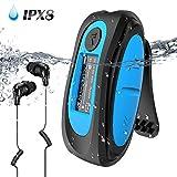 IPX8 Wasserdicht MP3 Player, 8GB HiFi MP3 Musik Player zum Schwimmen und Laufen, mit wasserdicht Kopfhörer,...