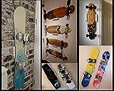 Clipboart ® Standard Wandhalterung Eiche für Longboard Snowboard Wakeboard Kiteboard...