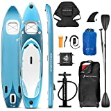 Messe-Neuheit 2020! Premium WBX SUP-Board mit 2in1 Sichtfenster | Action-Cam Ready +9in1...