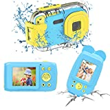 Kinderkamera wasserdichte Kamera HD 1080P Kinderkamera Unterwasserkamera Videokamera für...