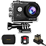 Apexcam 4K Action cam 20MP WiFi Sports Kamera Ultra HD Unterwasserkamera 40m 170 °...