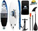 AQUALUST 10'6' SUP Board Stand Up Paddle Surf-Board aufblasbar Paddel ISUP 320x81cm Blue
