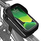 Velmia Fahrrad Rahmentasche Wasserdicht - Fahrrad Handyhalterung ideal zur Navigation - Fahrradtasche Rahmen,...