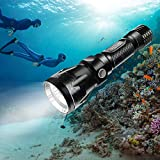 BlueFire Tauchlampe, 1200LM XM-L2 LED Tauchen Taschenlampe, Professionelle Helle...