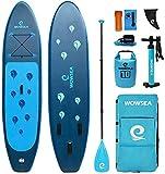WOWSEA Waterdrop Aufblasbares Stand Up Paddle Board | 305cm L x 80cm W x 15cm H | Langlebiges und Stabiles...