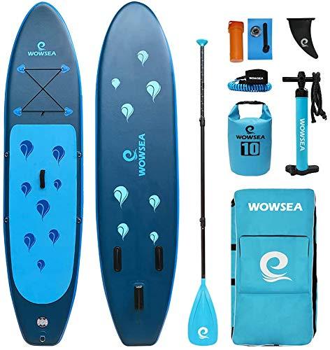 WOWSEA Waterdrop Aufblasbares Stand Up Paddle Board | 305cm L x 80cm W x 15cm H...