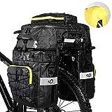 WATERFLY Fahrradtasche 3 in 1 Multifunctionwasserdichte Gepäckträgertasche Radfahren Gepäckträger Tasche...