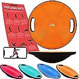 MSPORTS Balance Board Premium 40 cm Durchmesser inkl. Übungsposter und Work Out App...