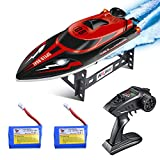 kuman Remote Control Boat, 25KM/H High Speed Waterproof Rc Racing Boat with 180º Flip Function,2.4GHz LCD...