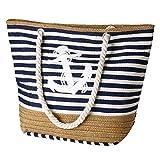 flintronic Große Strandtasche mit Reißverschluss und Innentasche Wasserdicht...