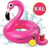 TK Gruppe Timo Klingler Flamingoring ca. 110 cm Schwimmring Flamingo aufblasbar Pool & Wasser mit...