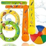 TK Gruppe Timo Klingler Schwimmring & Tauchring Set - mit Schwimmring, Tauchring, Wurfring...