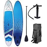 SUP Board Stand up Paddle Paddling Surfboard Dude + Lady Partner-Set 300-320cm aufblasbar...