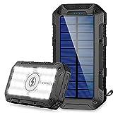 FKANT Powerbank Wireless 26800mah, Solarladegerät Schnelles Aufladen Externer mit 4...