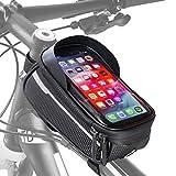 Velmia Fahrrad Rahmentasche [Wasserdicht] - Fahrrad Handyhalterung ideal fürs Navi - Fahrradtasche Rahmen...