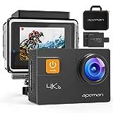 APEMAN Action Cam A80, UHD 4K WiFi 20MP Unterwasserkamera Digitale wasserdichte 40M Helmkamera (kostenlose...