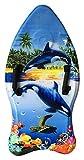 Idena 40311 Surfboard für Kinder, Bodyboard mit Handschlaufen und Stoffüberzug, Orcas,...