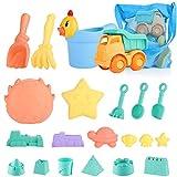 Strand Spielzeug für Kinder, Kleinkinder im Freien Sandburg Strandspielzeug Sets mit Auto...