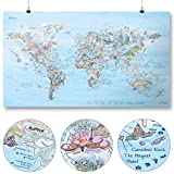 Taucher Weltkarte | AWESOME MAPS | Entdecke die 300 spektakulärsten Dive Spots der Welt...